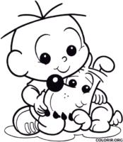 Cebolinha Baby e Bidu para colorir