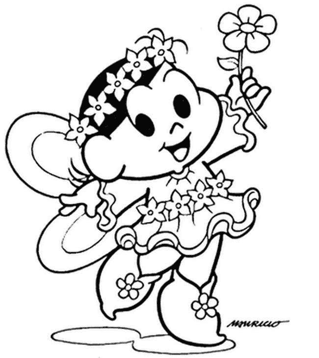 Desenho da Magali de fada para colorir
