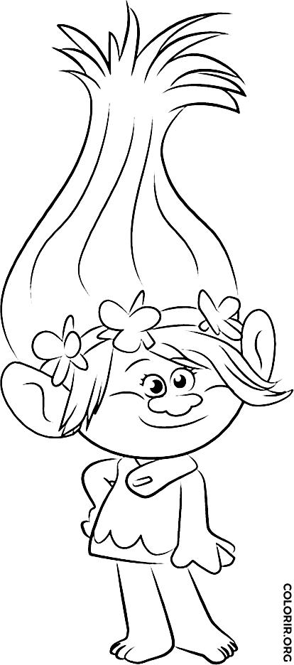 Desenho da Poppy para pintar