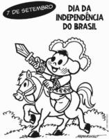 Cascão como Dom Pedro, Dia da Independência do Brasil