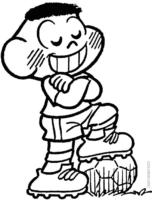 Desenho do Cascão jogando bola