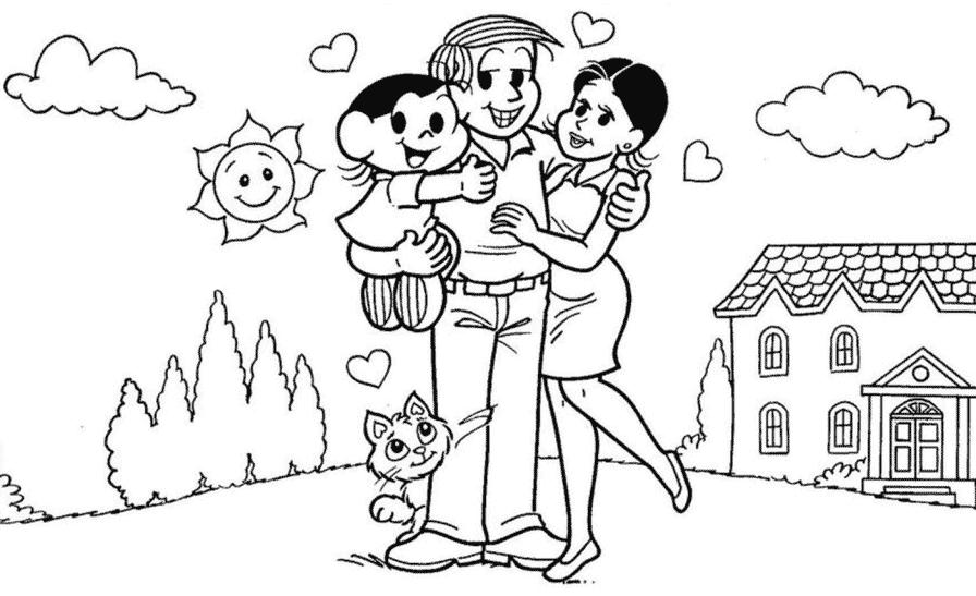 Família da Magali para colorir