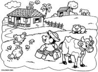 Fazenda do Chico Bento para colorir