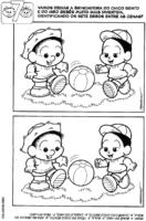Jogo dos 7 erros do Chico jogando futebol
