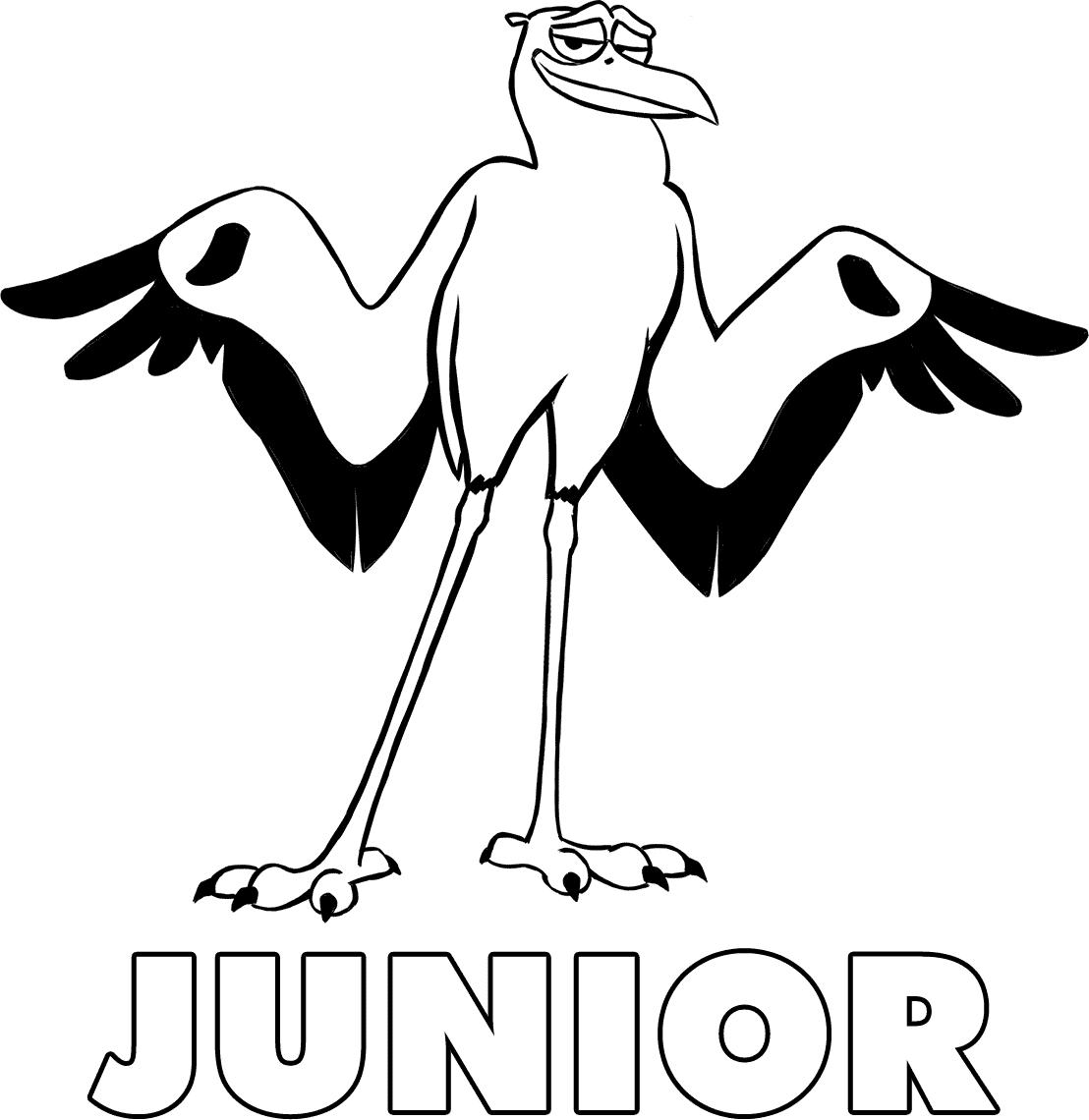 Junior, de Cegonhas, para colorir