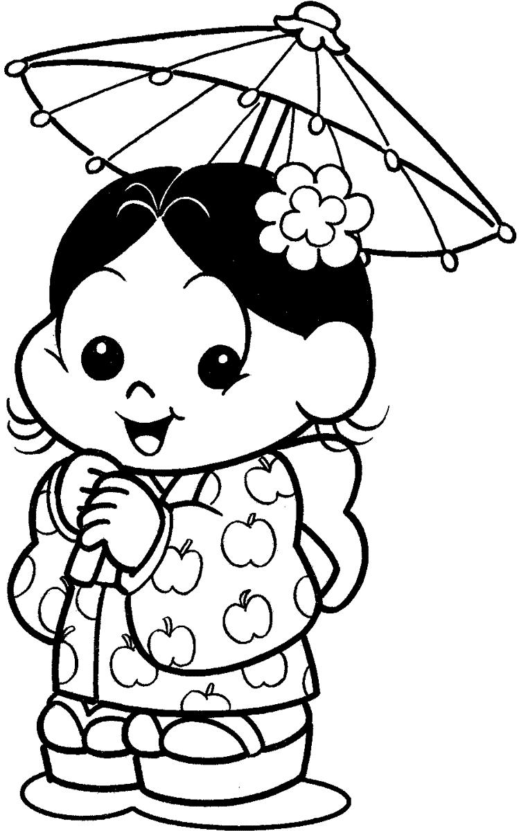 Magali Baby com sombrina japonesa