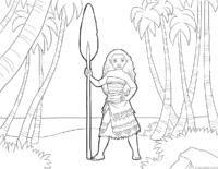 Moana com arpão