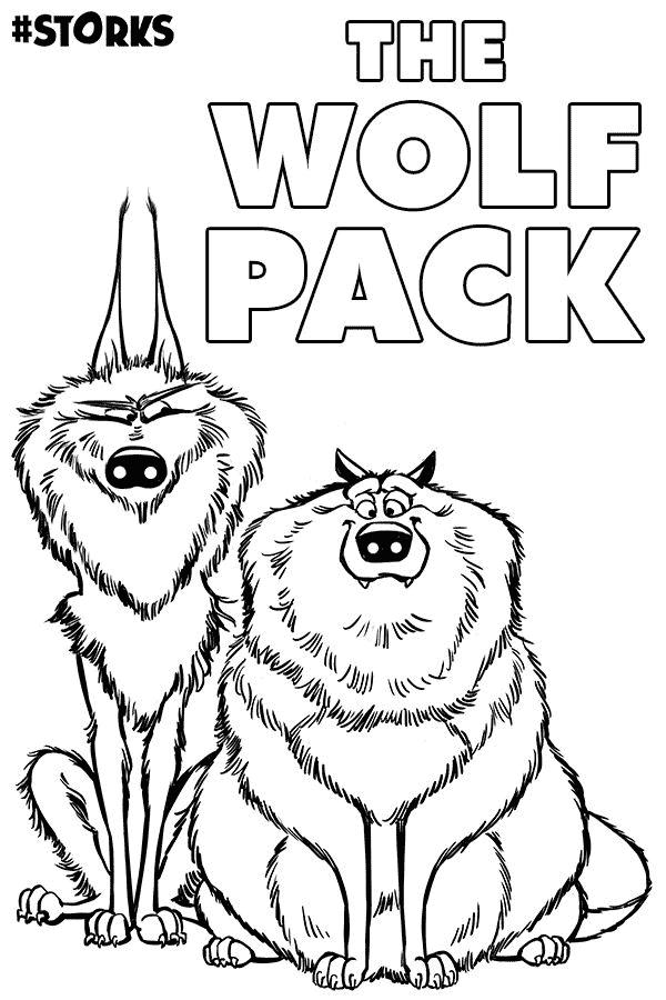 Os Lobos, de Cegonhas, para colorir