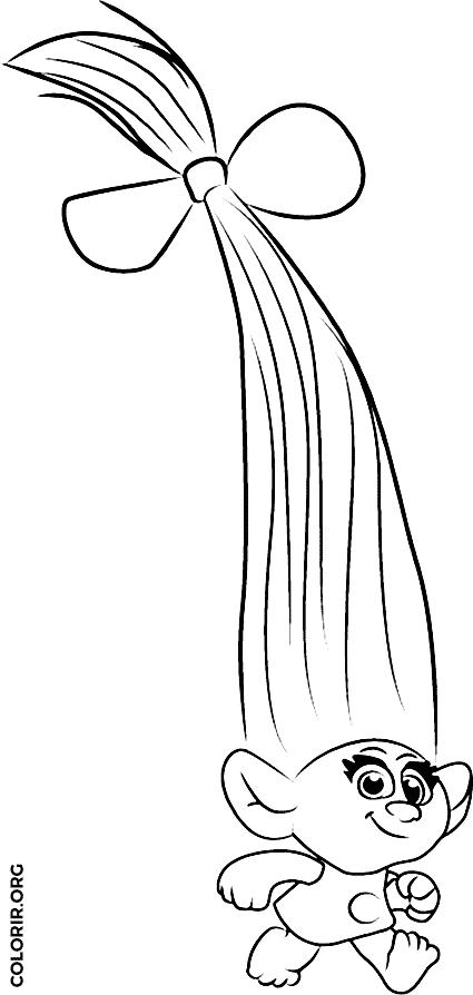 Smidge, de Trolls, para colorir