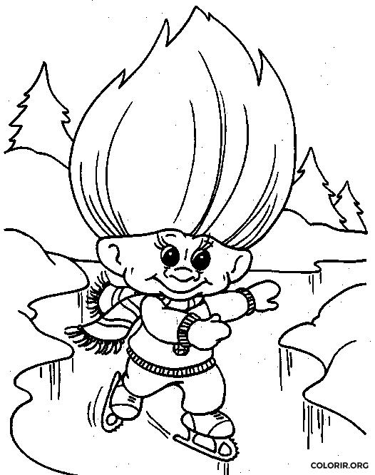 Troll patinando no gelo