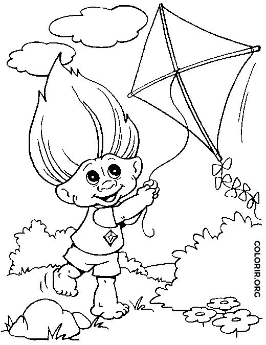 Conhecido Troll soltando pipa — Colorir.org XL61