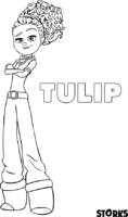 Tulip, de Cegonhas, para colorir