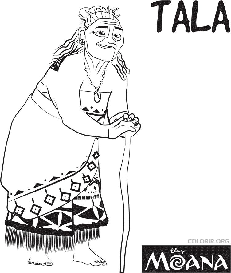 Vovó Tala para colorir