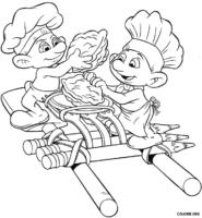 Smurfs fazendo arte