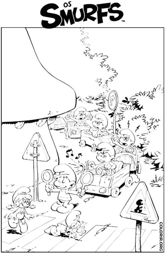 Trânsito no mundo Smurf