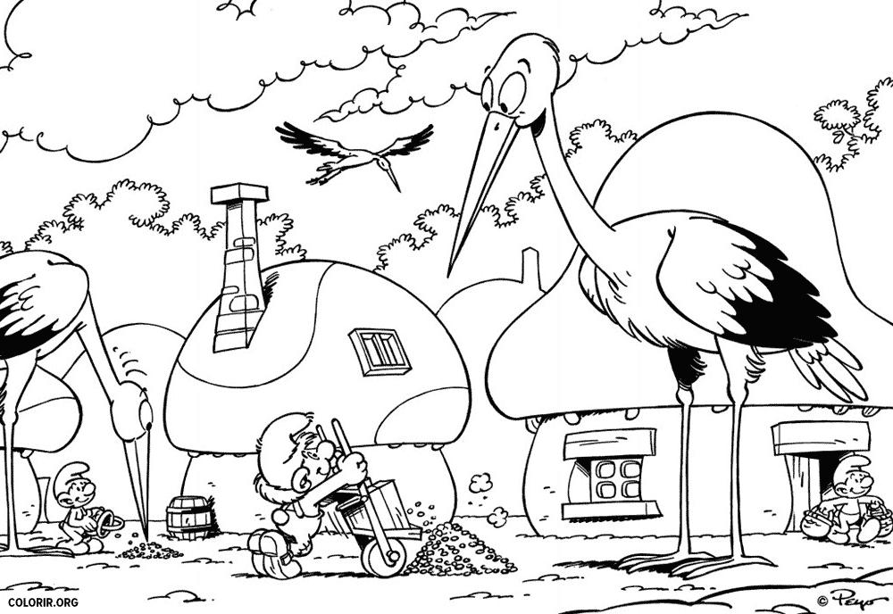 Uma Cegonha na Vila Smurf