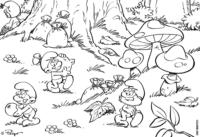 Vila Smurf para colorir