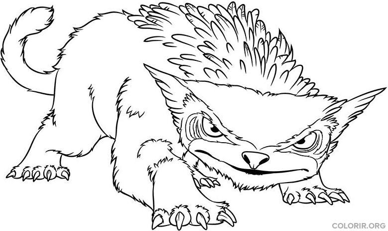 bicho feroz de os croods colorir org