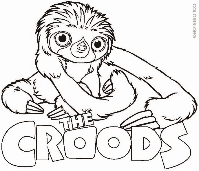 O Braço – de Os Croods – para colorir