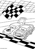 Corrida entre personagens de Carros