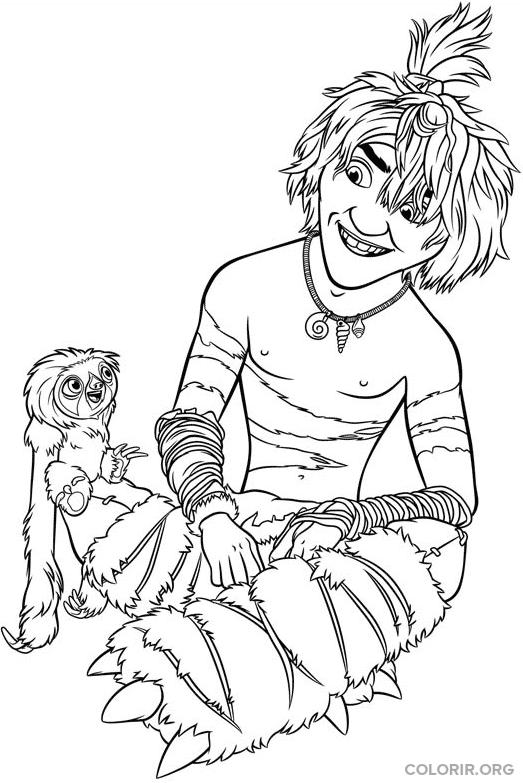 Guy e Braço para colorir