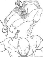 Homem Aranha lutando contra vilão