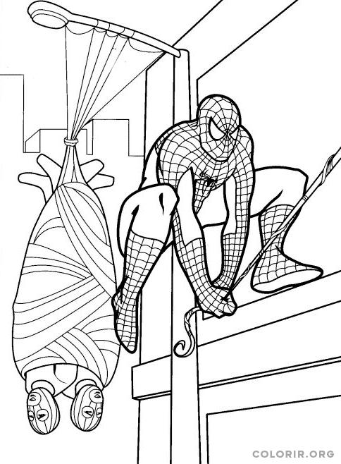 Homem Aranha prende ladrões em teia