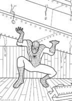 Homem Aranha segurando viga de aço