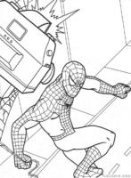 Homem Aranha sendo fotografado