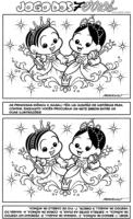 Jogo dos 7 erros da Mônica e Magali Bebês como princesas
