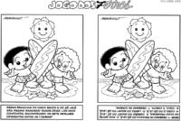 Jogo dos 7 erros do Chico Bento e Zé Lelé surfando