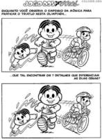 Jogo dos 7 erros da Mônica no triatlo