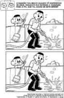 Jogo dos 7 erros do Cascão contra o desperdício de água