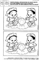 Jogo dos 7 erros do Carcão e Hiro bebês
