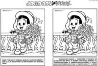 Jogo dos 7 erros da Rosinha com buquê de flores