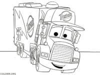 Mack, a carreta de Carros, para colorir