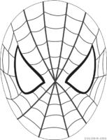 Máscara do Homem Aranha para colorir