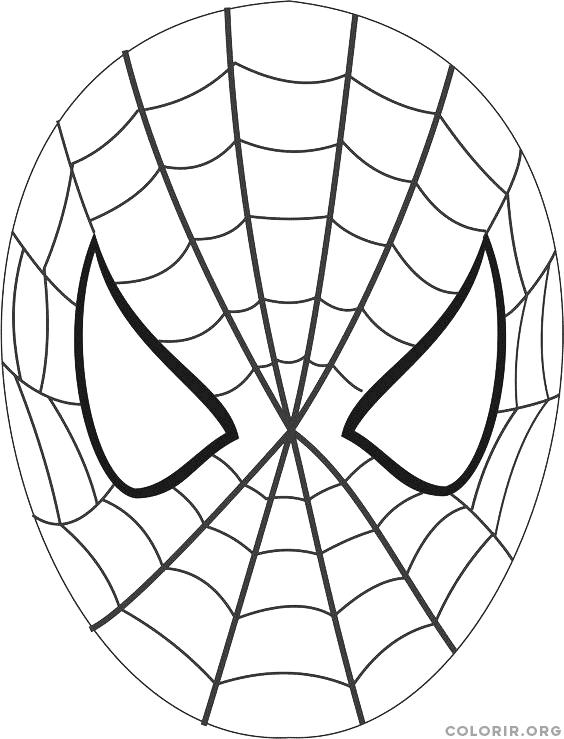 Máscara Do Homem Aranha Para Colorir Colorirorg