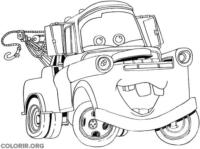 Mate, de carros, para colorir