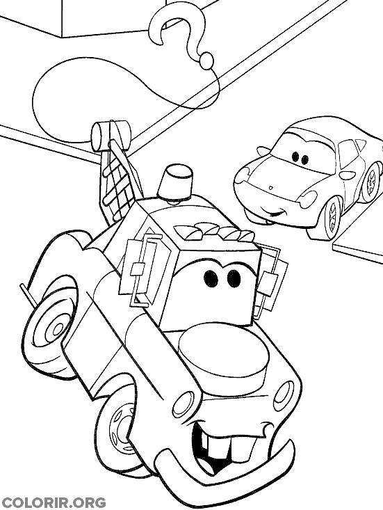 Mate e Sally para colorir