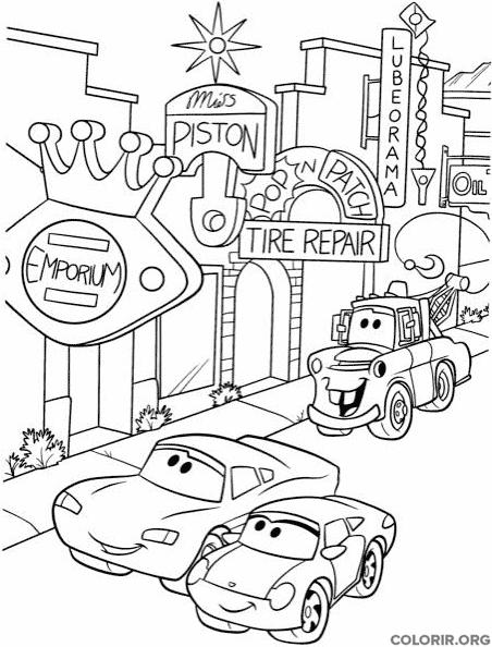 Personagens de Carros na cidade