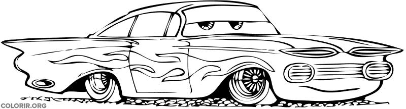 Ramone, do filme Carros, para colorir