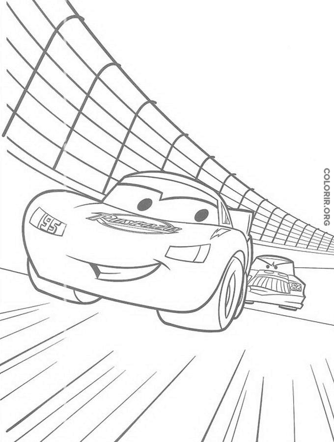 Relâmpago McQueen acelerando