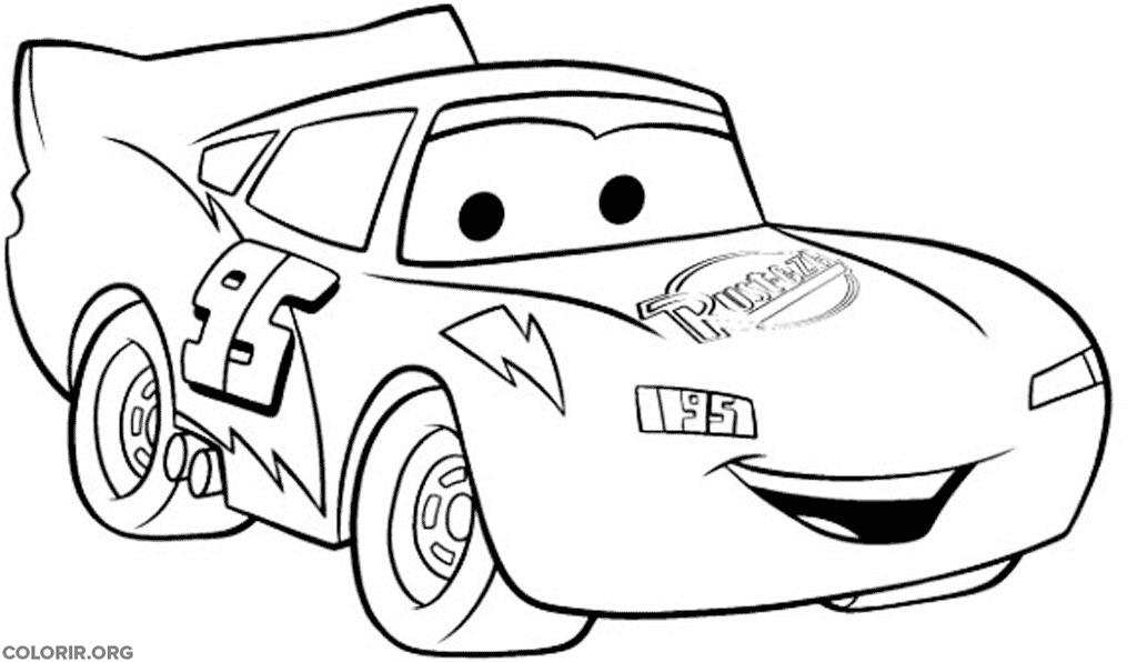 Relâmpago McQueen para colorir