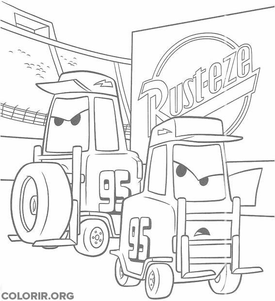 Trocadores de pneu do filme Carros