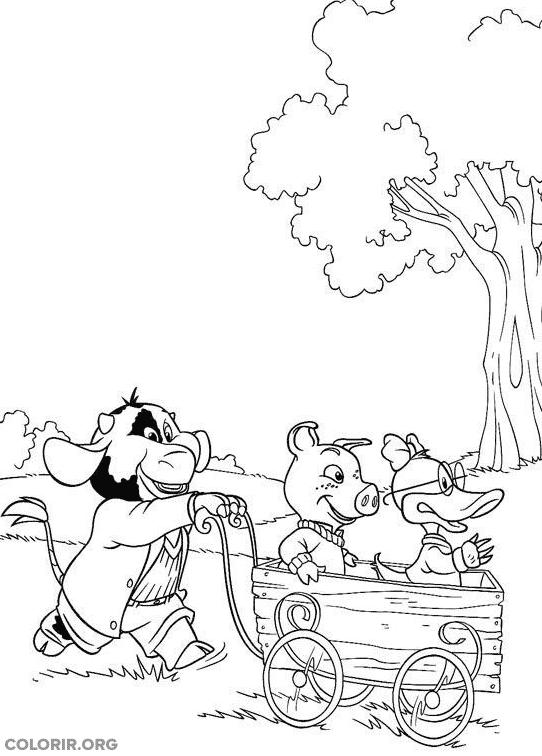 Piggley, Dannan e Fernandes brincando de carrinho