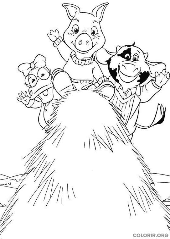 Piggley, Dannan e Fernandes em cima do feno