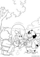 Piggley, Dannan e Fernandes pulando corda