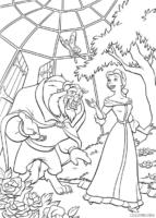 Bela e Fera em estufa de flores