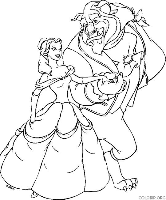 A Bela e a Fera passeando